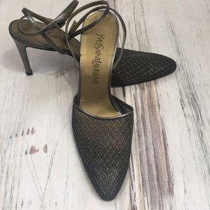 a7040556f Yves Saint Laurent Italian Leather Heels Shoes 7.5
